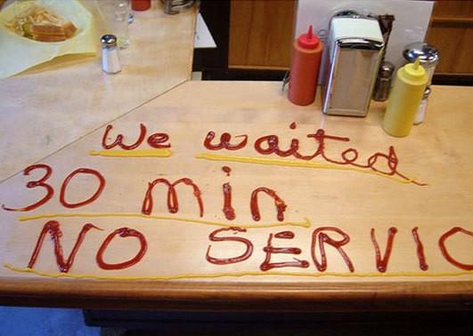 30 min no service