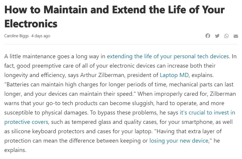 How to Maintain and Extend the Life of Your Electronics